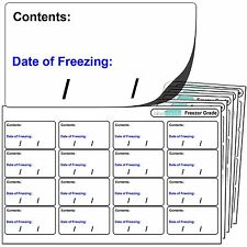256 Freezer Labels. For Use With Any Standard Pen. FREEZER Adhesive Stickers.