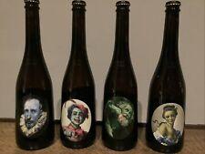 More details for collection of 4 rare aspall cyder bottles cider 2012 glenn brown design