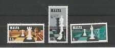 Malta 1980 Ajedrez SG, 652-654 Um/M nh Lote 2296A