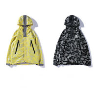 New Men's A Bathing Ape Jaw Jacket Bape Camouflage Windbreaker Zip Hoodie Coats