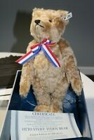 "Steiff 16"" Teddy Bear 1912 Replica Otto Jointed Mohair 406744 Limited Edition"