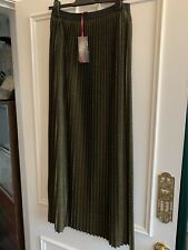 Marks And Spencer Pleated Maxi Skirt 10 Brand New
