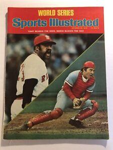 1975 Sports Illustrated World Series CINCINNATI REDS vs BOSTON Red Sox BENCH N/L