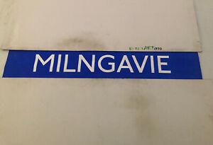 "Glasgow Kelvin Central Bus Destination Blind  42""- Milngavie"