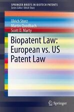 SpringerBriefs in Biotech Patents: Biopatent Law : European vs. Us Patent Law...