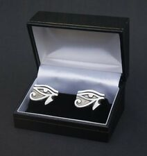 Eye of RA / Horus Cufflinks Pewter Cuff Link Silver Plated Fittings UK Post