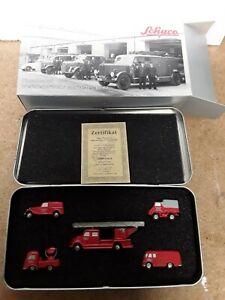 SB584 Schuco Piccolo-Set Mercedes-Benz Werkfeuerwehr 5 Modelle 1:90 OVP