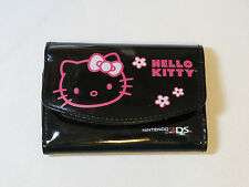 Hello Kitty Nintendo 3DS Carrying Case Black Stylus screen protectors Pre-owned