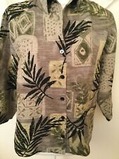 Chico's Design Woman's Silk Blend Button Down Shirt Size 1 Small 8/10