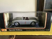 1948 PORSCHE NO. 1 TYP 356 ROADSTER 1/18 Maisto NIB Special Edition