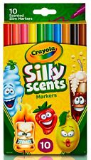 Crayola Silly Scents Slim Markers - 10 pack - New