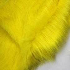 """Yellow SHAGGY FAUX FUR FABRIC LONG PILE FUR costumes cosplay backdrops 60"""" BTY"""