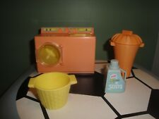 PLAYSKOOL DOLLHOUSE ACCESSORIES -Washer & Dryer,Laundry Detergent,Hamper, Basket