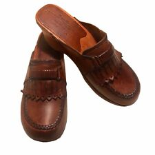 Rapallo Vintage 1970 Brown Leather Clogs, 8