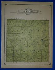 1914 Plat Map ~ BURROWS Twp. - PLATTE Co., NEBRASKA Land Genealogy Ancestry