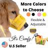 Dog Muzzle Mask Adjustable Mouth Grooming Anti Stop Bark Bite Pet S-2XL Large