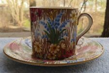 Royal Winton Marguerite Floral Chintz Demitasse Cup and Saucer Set