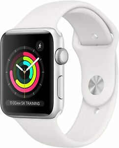 Apple Watch Series 3 Silver Aluminum White Band 42mm NEW IN BOX NIB iwatch smart