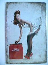 More details for drink coca cola advertising tin sign drink coca cola retro decorative tin sign