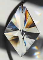 Huge KITE 89mm Austrian Crystal Clear Prism SunCatcher Ornament 3.5 inches