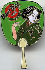 Hard Rock Cafe YOKOHAMA 2000 Japan FAN Series PIN Uchiwa with Geisha #10517