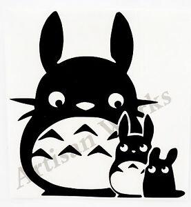 Chibi Chu Totoro Ghibli My Neighbor Totoro decal sticker anime car window laptop