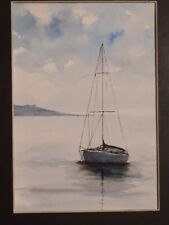 "Original watercolor painting 5"" x 7""  seascape"