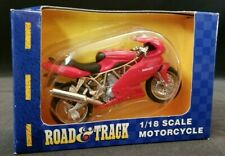 MAISTO Road & Track 1/18 Scale Diecast Red Ducati 996 Motorcycle Sport Bike NEW