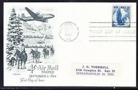 "USA ""Artmaster"" 1954  - 4c Airmail Card Addressed"