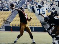 Sonny Jurgensen HOF Signed Redskins 16x20 Passing Against Rams Photo- JSA W Auth