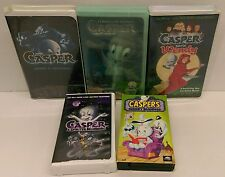 FIVE (5) CASPER the Friendly Ghost kid's live-action movie and cartoon VHS lot