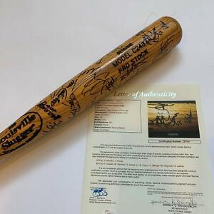 1999 Cleveland Indians Team Signed Bat 41 Sigs! Jim Thome Manny Ramirez JSA COA