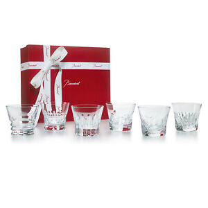 BACCARAT CRYSTAL EVERYDAY SET OF 6 CLASSIC TUMBLERS #2809854 BRAND NIB SAVE$ F/S