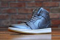 Nike Air Jordan 1 Mid Nouveau Cool Grey Gum Sole Premium Leather 629151 007 Fly