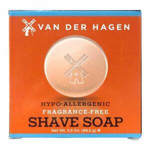 Van Der Hagen Unscented Luxury Shave Soap (3.5oz) Fast Shipping
