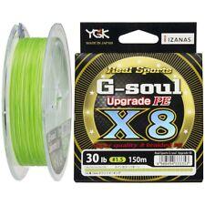 YGK Real Sports G-soul Upgrade X8 PE 150m 30lb 1.5 green 4988494333353