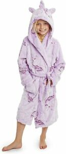CityComfort Purple Unicorn Hooded Super Soft Dressing Gown for Girls