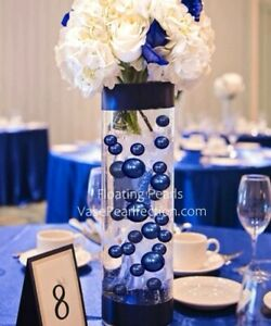 Royal Blue (Bright Navy) Pearls- No Hole Jumbo & Assorted Sizes Vase Decorations