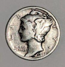 1941-D 10C Mercury Dime 90%Silver Sharp Date