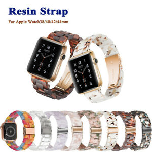 Plastic Resin Watch Strap Band for Apple Watch Series 5/4/3/2/1 38-44mm Bracelet