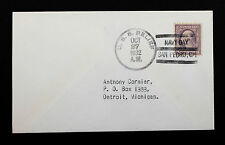 US Stamp Sc #489 on USS Relief Navy Day Cover Oct 27, 1932 Very Clean Cover.