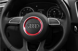 RED - Audi RS4 RS5 RS6 RS7 Steering Wheel Surround Trim - A3 A4 A5 A6 A7 A8
