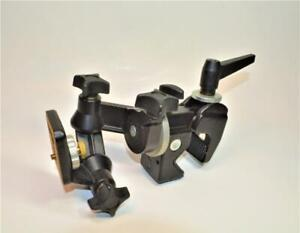 Bogen Manfrotto 3025 professional camera tripod /monopod head w adjustable clamp