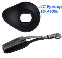 JJC Ergo Silicagel Oval Eyecup +Genuine Leather Hand Strap Sony A6300 A6000