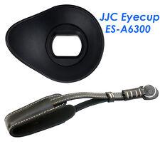JJC ES-A6300 Silicagel Oval Eyecup +Genuine Leather Wrist Strap Sony A6300 A6000