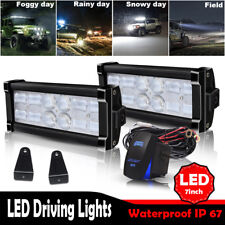 Pair 6Inch Led Reverse Combo Fog Light Bar+Wiring Kit For Offroad Truck  SUV