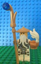 Lego SENSEI WU Battle Master minifig Ninjago White Tea 70734 Sensai Woo Rare!