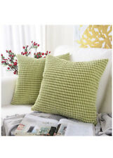 """MERNETTE Set of 2 Corduroy Soft Sofa Couch Throw Pillow Cover Covers 18"""" x 18"""""""