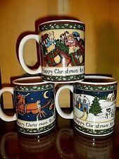 "SET OF THREE ""A CHRISTMAS STORY"" MUGS INTERNATIONAL CHINA--Excellent!"