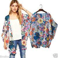 Women Casual Kimono Cardigan Loose Chiffon Summer Beach Cover Up Tops Blouse Tee
